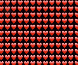 wallpaper, emoji, and heart emoji image