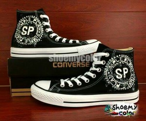 i want, shoe, and simple plan image