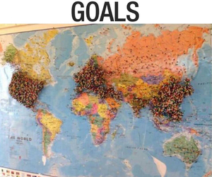 goals, travel, and world image