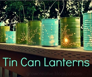 diy, lanterns, and tin image