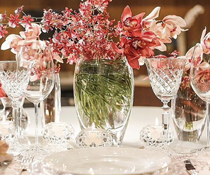 flores, flowers, and tableware image