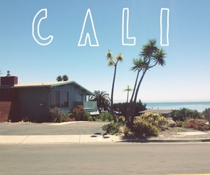 california, beach, and cali image