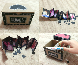 box, candies, and diy image