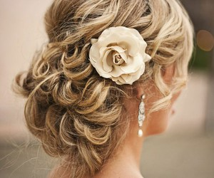 hair for a wedding image