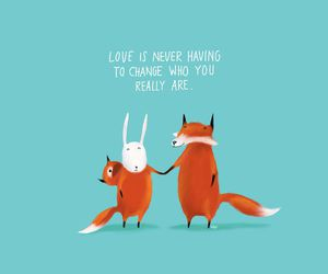 love, fox, and quote image