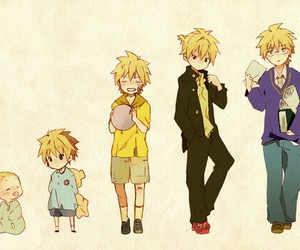 vocaloid, len kagamine, and anime image