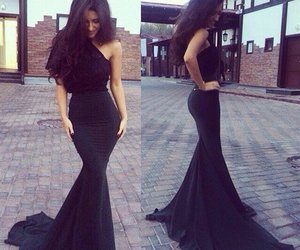 dress, black, and classy image
