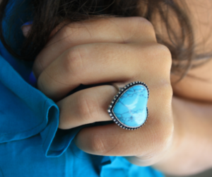 fashion, ring, and blue image