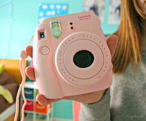 tumblr, camera, and pink image