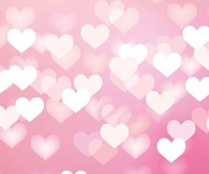 wallpaper, pink, and heart image
