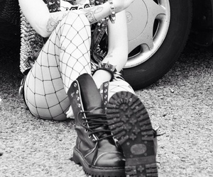 bad girl, boots, and punk image