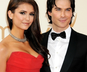 ian somerhalder, Nina Dobrev, and Vampire Diaries image