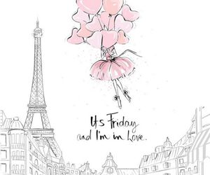 friday, paris, and love image