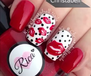 lips, nails, and red image