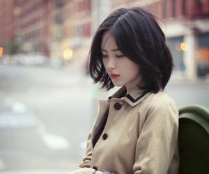 asian girl, beautiful, and short hair image
