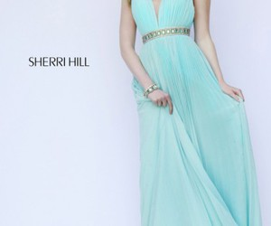 sherri hill 11222, aqua, and evening gown image
