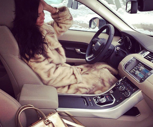 girl, fancy, and fur image