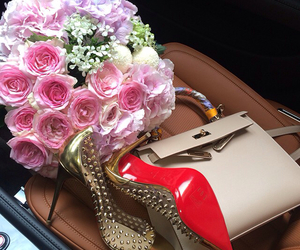 bag, flowers, and luxury image