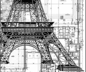 paris, architecture, and eiffel image