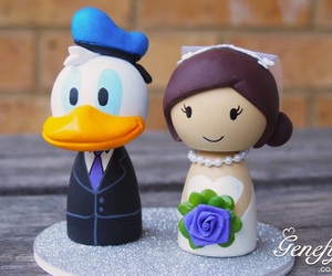 bride, cake topper, and disney image