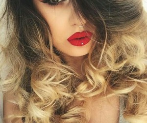 cheveux, redlips, and hair image