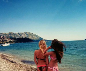 beach, blond, and blonde image