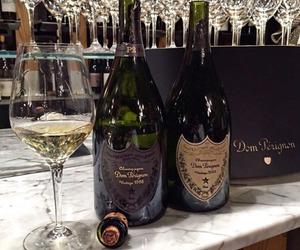 champagne, Dom Perignon, and luxury image