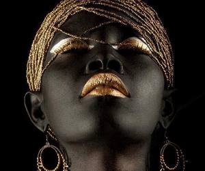 beauty, black, and gold image