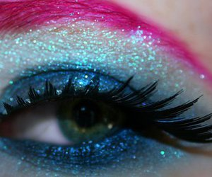eye, makeup, and pink image