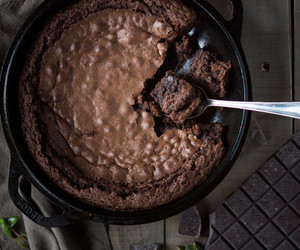chocolate, brownies, and food image