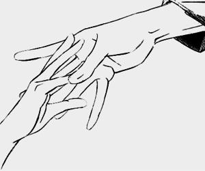 b&w, hands, and manga image