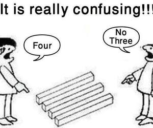 confusing, four, and three image