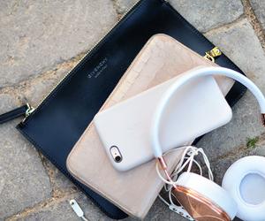 fashion, iphone, and headphones image