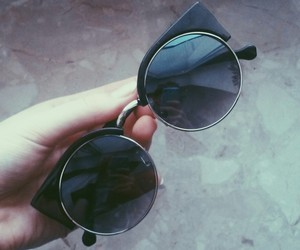 black, grunge, and sunglasses image