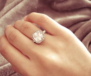 couple, wedding, and engagement ring image