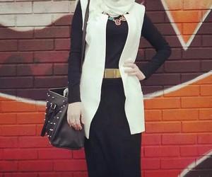 black, fashion, and hijab image