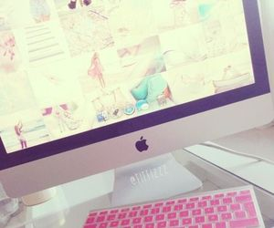 pink, apple, and girly image
