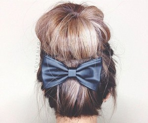 bun, messy bun, and hair bun image