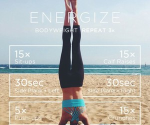 energize, fitness, and workout image