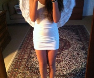 girl, angel, and dress image