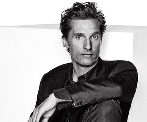 matthew mcconaughey, actor, and black and white image