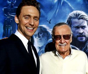 stan lee and tom hiddleston image