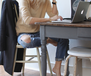 style, work, and jeans image