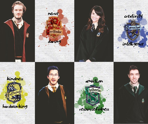 hogwarts, markiplier, and youtubers image