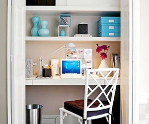 home office blog, room ideas home office, and hgtv closet desk image