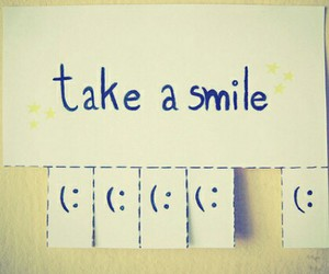 just you, be happy, and smile image