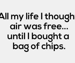 chips, funny, and air image