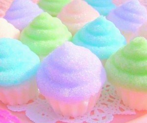 cupcake, pastel, and food image
