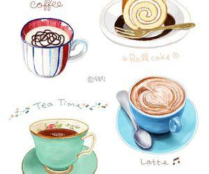 coffee, food, and illustration image