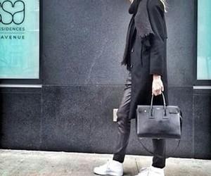 black, model, and new york image